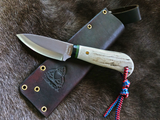 Triple X Custom - A2 steel with Elk Antler Handle