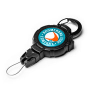 Retractable Fishing Gear Tether with a Universal Easy Change End Fitting