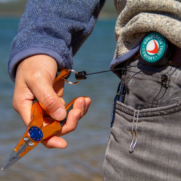 Heavy Duty Fishing Zinger with Belt Clip for Fly Fishing Gear and Tools