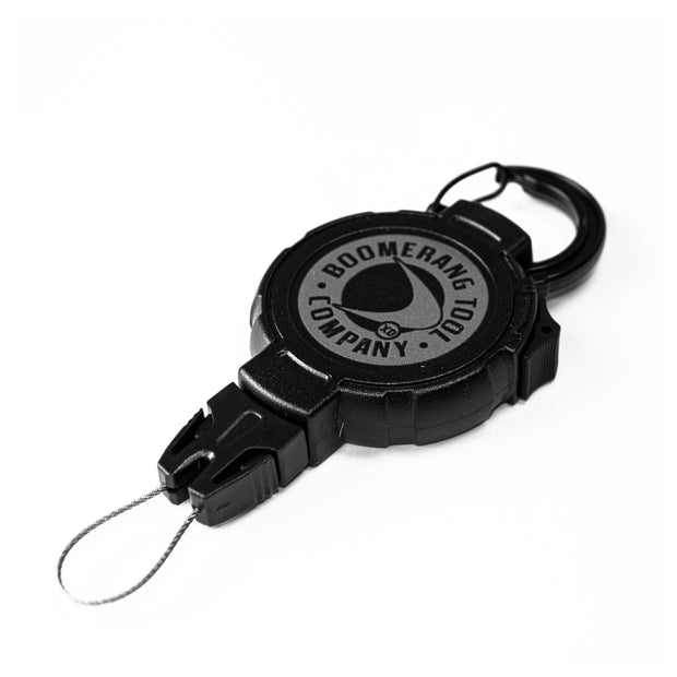Retractable Scuba Diving Tether with Universal and Split Ring Easy Change End Fittings
