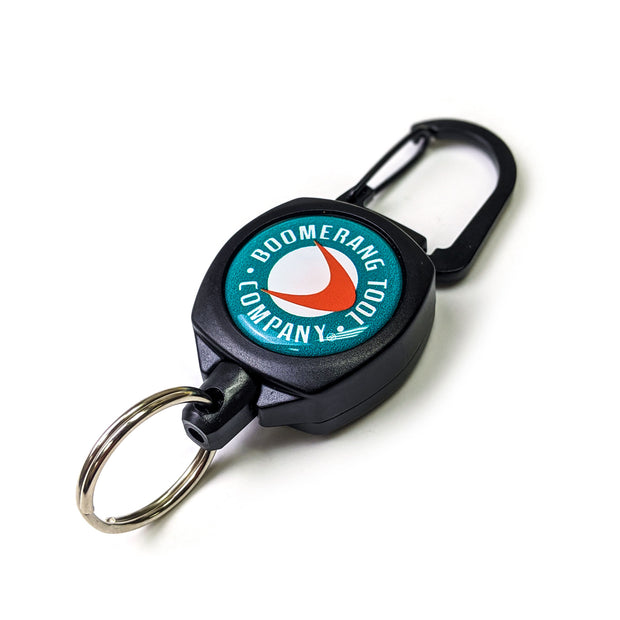 Mid Size Fishing Zinger with Carabiner and Split Ring For Fly Fishing Gear and Tools