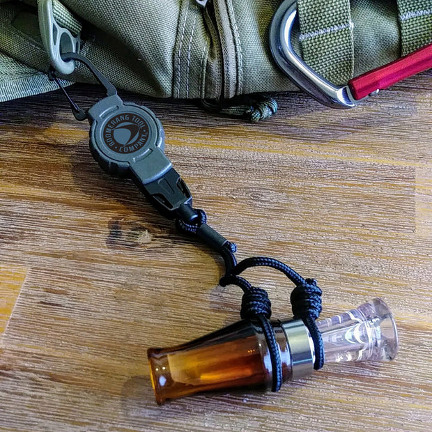 Duck Hunting Call Attachment with Retractable Hunting Gear Tether
