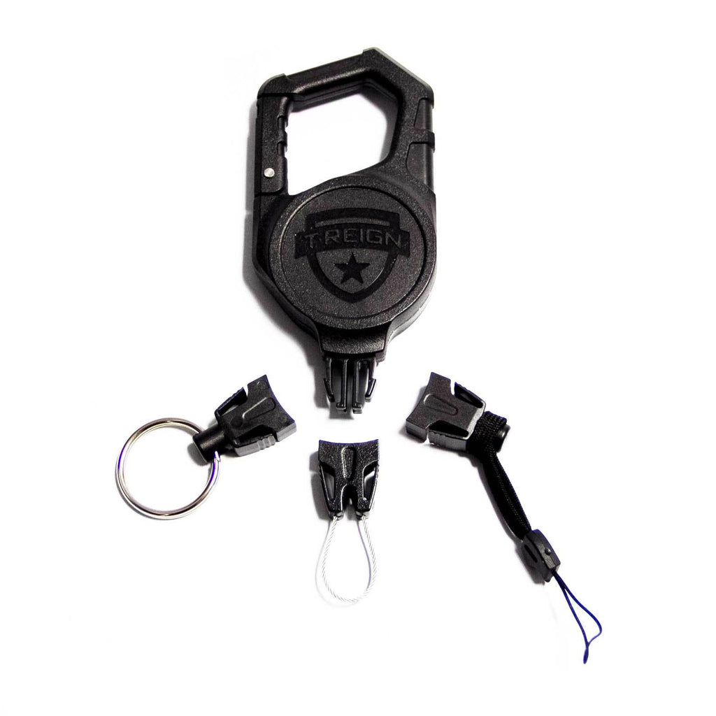 Large Carabiner Retractable Gear Tether Combo