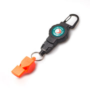 FOX40 Safety Whistle with a Heavy Duty Retractable Fishing Gear Tether