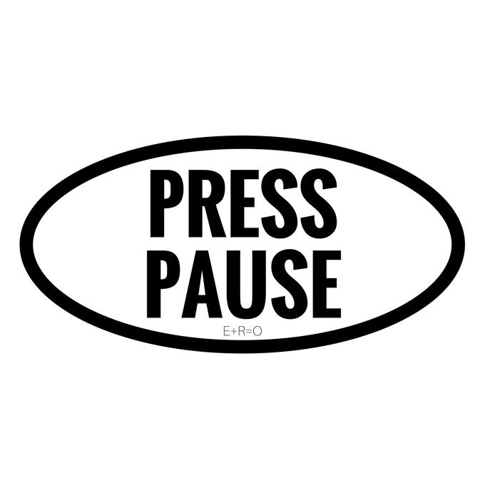 Sticker - R:1 Press Pause