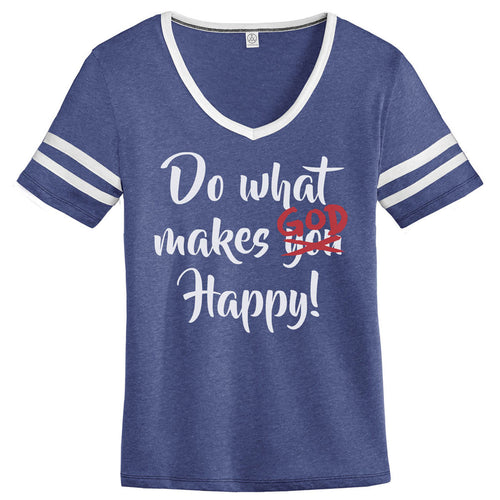 Do What Makes God Happy V-neck Girl's Tee
