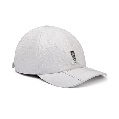 Mauri H65 Men's Wonder White Exotic Caiman Crocodile / Nappa Embbosed Hat (MAH1010)