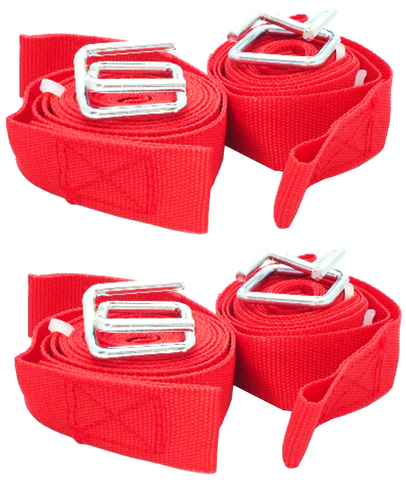 8 ft Long Straps  Nylon  Webbing  with Clamps  4 pack  Includes Fast Free Shipping!