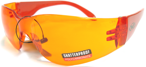 Rider Color Frame - Safety Glasses - Limited Quantities!!  Orange, Red or Silver