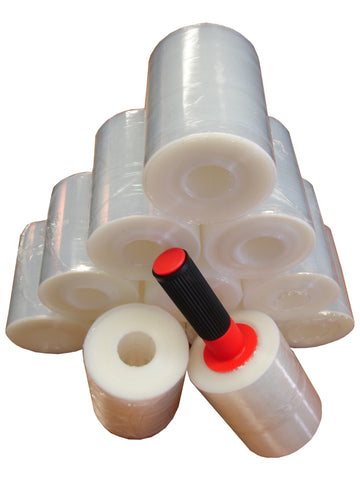 STRETCH WRAP CASE 12 ROLLS W/ 1 HANDLE w FREE STANDARD SHIPPING!!