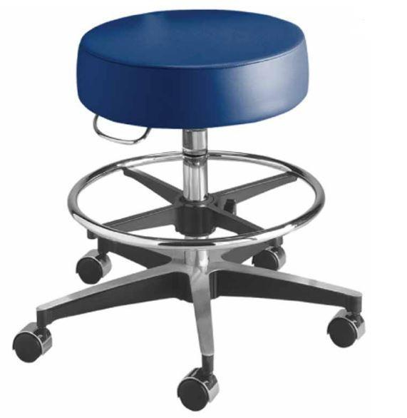 Brewer Pneumatic Stool with Foot Ring - Optics Incorporated