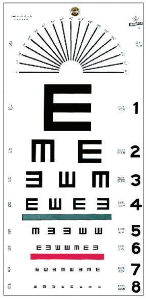 "Graham Field Illiterate ""E"" Chart, 20 Feet - Optics Incorporated"