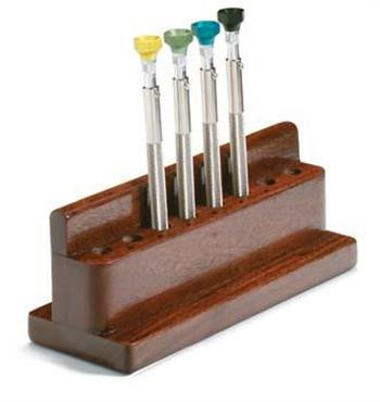 Hilco Vision Pick-Up Screwdriver Set with Wooden Rack - Optics Incorporated