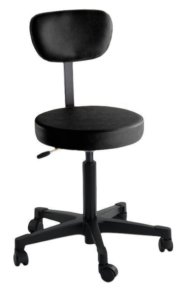 Reliance 4246 Pneumatic Stool with Back - Optics Incorporated