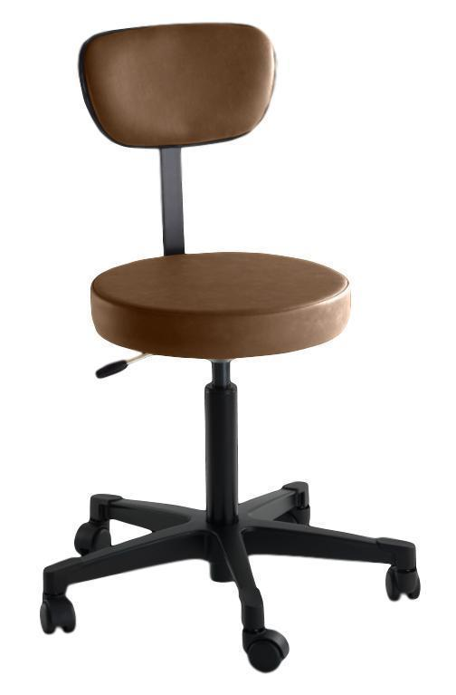 Reliance Exam Room Buckseude 4246 Pneumatic Stool with Back