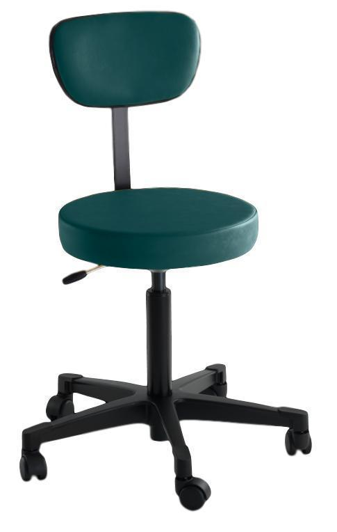 Reliance Exam Room Teal 4246 Pneumatic Stool with Back