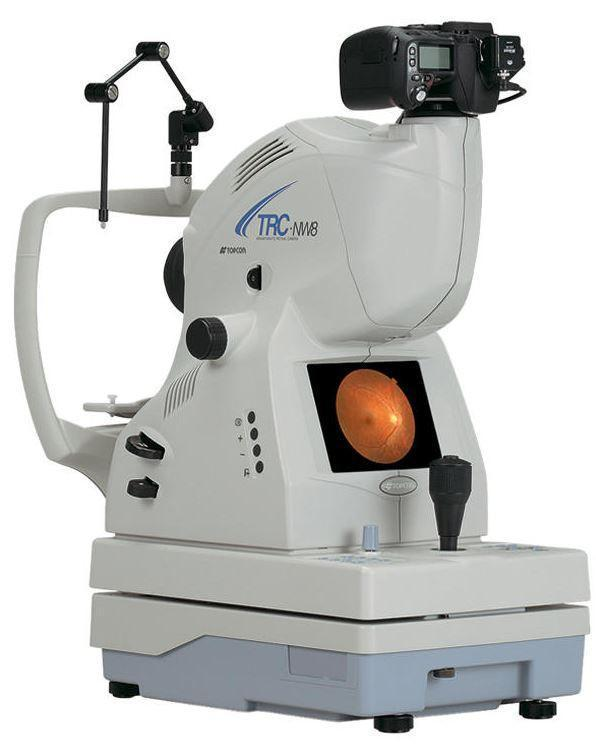 Topcon TRC-NW8 Non-Mydriatic Retinal Camera - Optics Incorporated