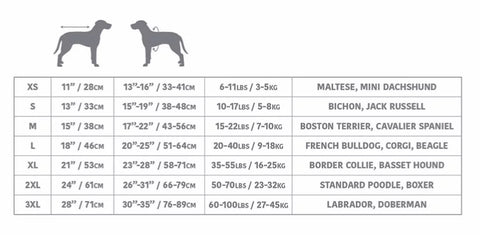 go fresh pet ice cooling vest size chart