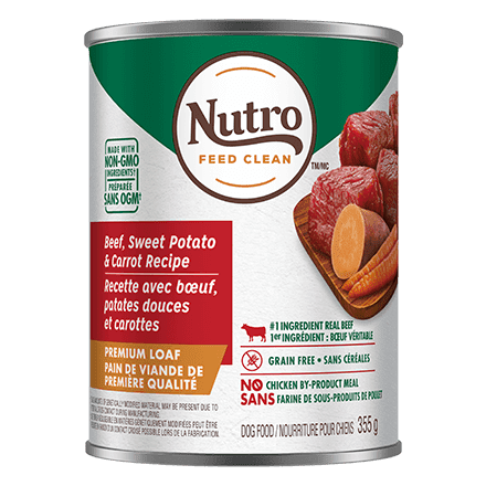 Nutro Canned Dog Food Premium Loaf Beef, Sweet Potato, & Carrot Recipe  Canned Dog Food - PetMax