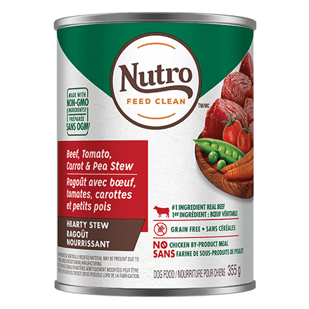 Nutro Canned Dog Food Cuts In Gravy Stew Chunky Beef, Tomato, Carrot & Pea  Canned Dog Food - PetMax