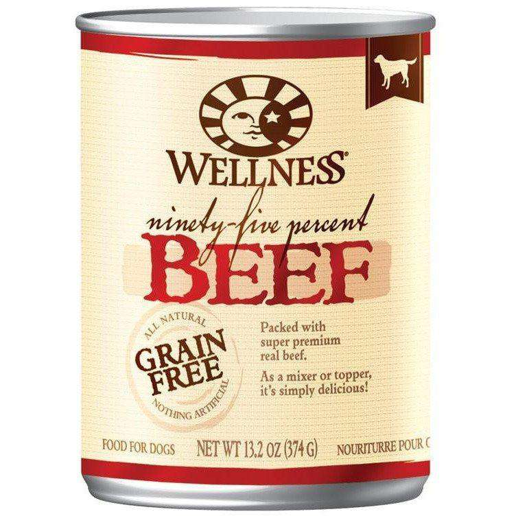 Wellness Canned Dog Food 95% Beef, Canned Dog Food, WellPet - PetMax Canada