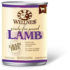 Wellness Canned Dog Food 95% Lamb, Canned Dog Food, WellPet - PetMax Canada