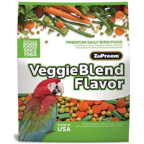 Zupreem Veggie Blend Medium & Large Birds, Bird Food, Zupreem Premium Nutritional Product - PetMax