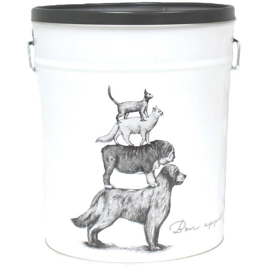 Be One Breed Food Bin Bon Appetit White, Home Decor, Be One Breed - PetMax Canada