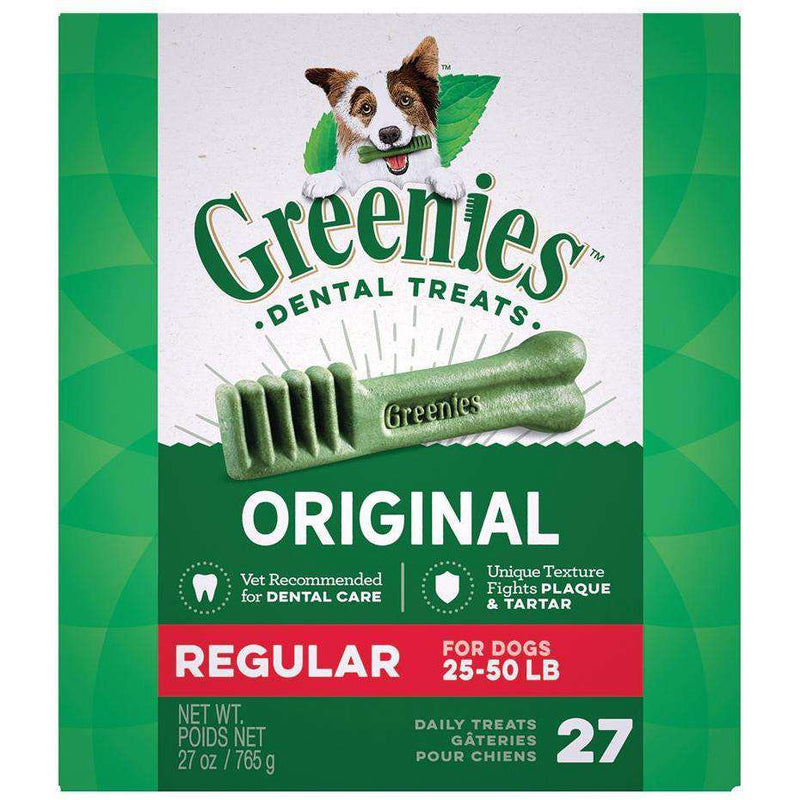 Greenies Dental Treat Original Regular | Dog Treats -  pet-max.myshopify.com