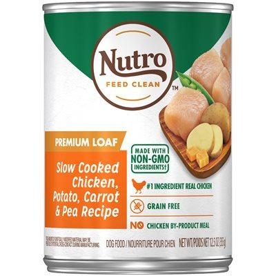 Nutro Adult Canned Dog Food Premium Loaf Chicken Recipe  Canned Dog Food - PetMax