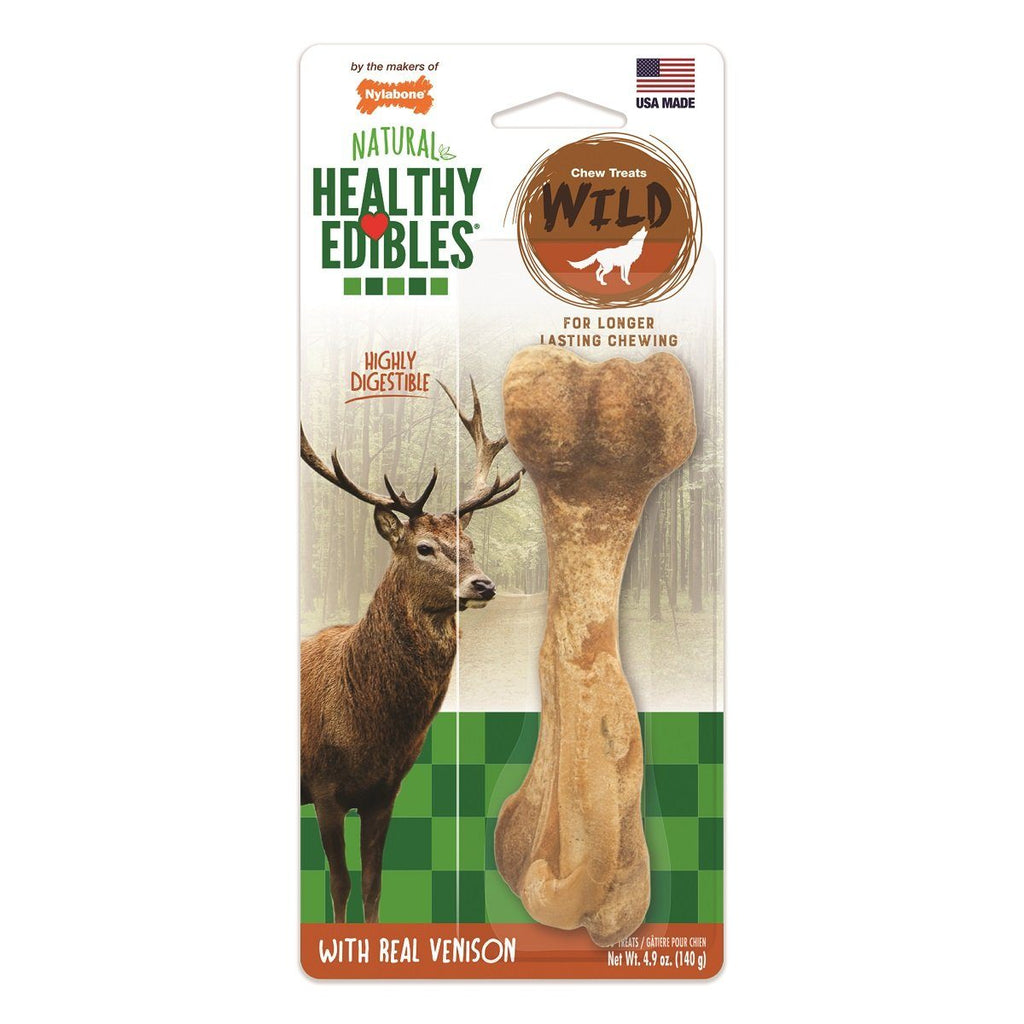 Nylabone Healthy Edibles Wild Venison  Chew Products - PetMax