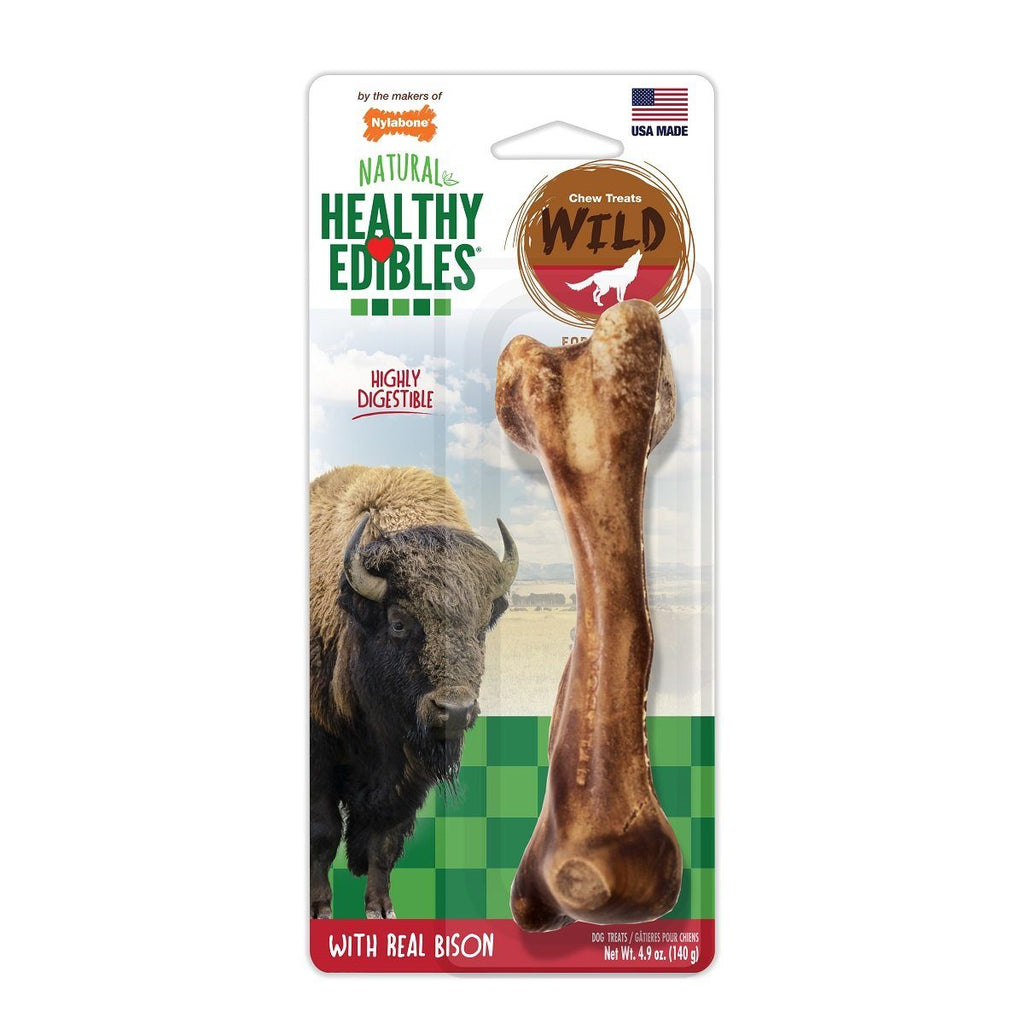 Nylabone Healthy Edibles Wild Bison Large - 1 Pack Chew Products - PetMax