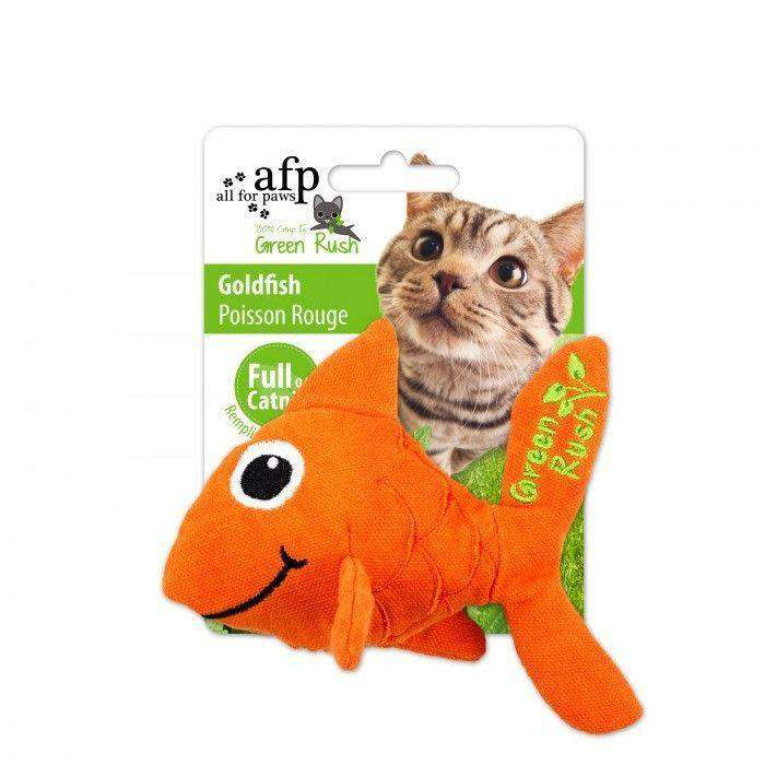 All For Paws Cat Toy Green Rush Goldfish  Cat Toys - PetMax
