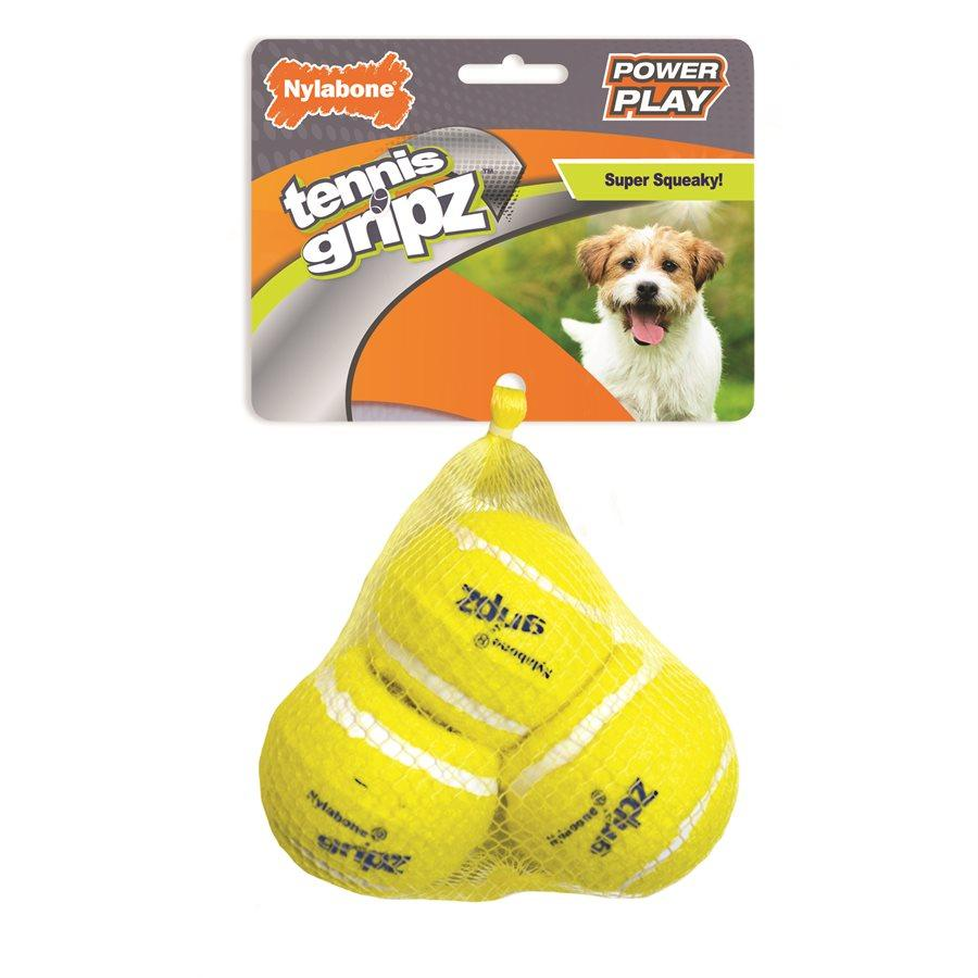 Nylabone Play Tennis Ball Small 3-Pack Dog Toys - PetMax