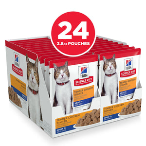 Hill's Science Diet Senior 7+ Canned Cat Food, Chicken, 79g pouch [variant_title] [option1] | Canned Cat Food Hills Pet Nutrition Canada Inc. -  PetMax.ca