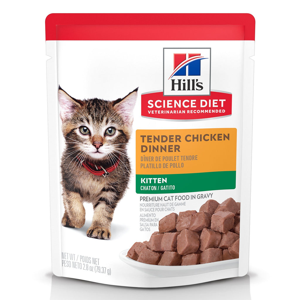 Hill's Science Diet Kitten Canned Cat Food, Chicken, 79g pouch 79g pouch Canned Cat Food - PetMax