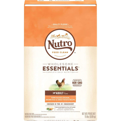 Nutro Wholesome Essentials Dog Food Adult Chicken & Rice, Dog Food, Nutro Pet Products - PetMax