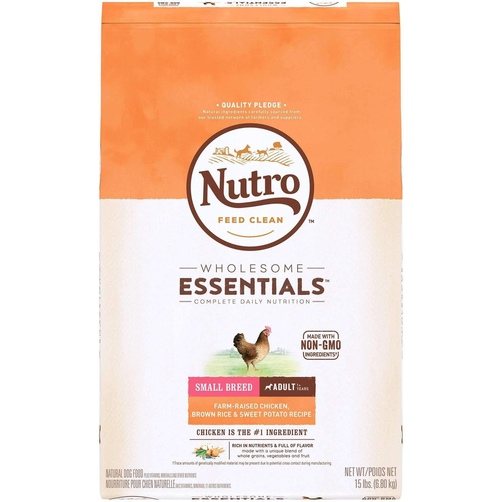 Nutro Wholesome Essentials Dog Food Adult Small Breed Chicken  Dog Food - PetMax