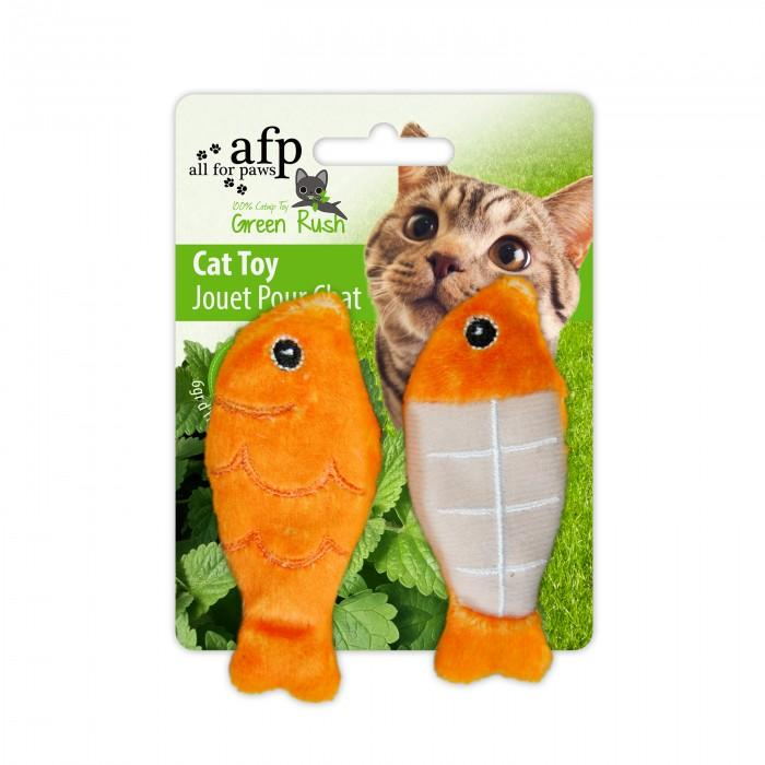 All For Paws Cat Toy Catch Of The Day 2 Pack Orange Cat Toys - PetMax
