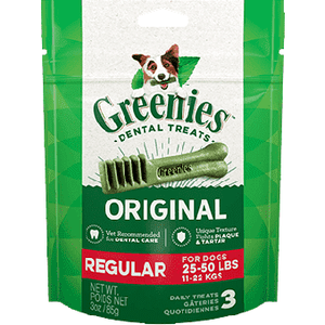Greenies Trial Size Dental Treat Original Regular 85g Dog Treats - PetMax