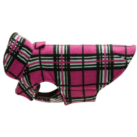RC Dog Coat Whistler Winter Wear Raspberry Tartan, Dog Clothing, RC Pet Products - PetMax Canada