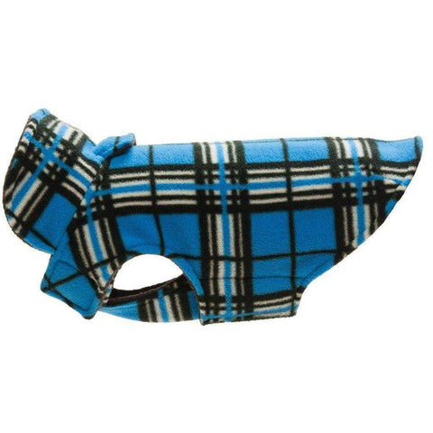 RC Dog Coat Whistler Winter Wear Blue Tartan, Dog Clothing, RC Pet Products - PetMax Canada