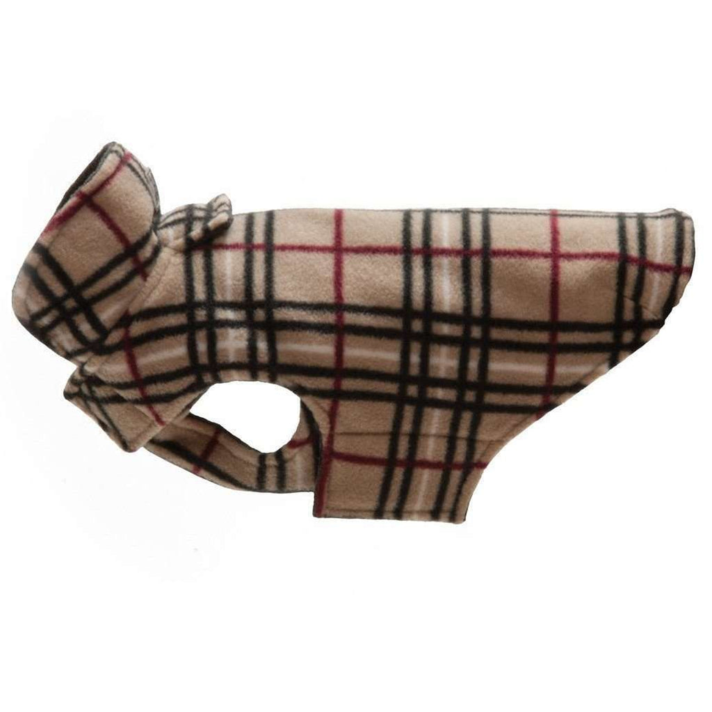 RC Dog Coat Whistler Winter Wear Tan Tartan  Dog Clothing - PetMax