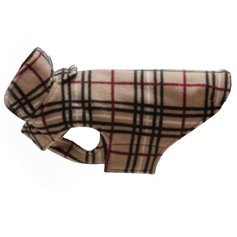 RC Dog Coat Whistler Winter Wear Tan Tartan, Dog Clothing, RC Pet Products - PetMax Canada