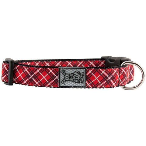 RC Dog Adjustable Collar Pattern Red Tartan