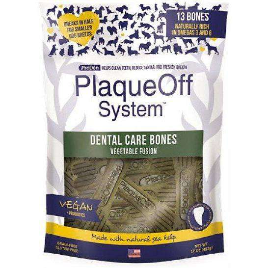 PlaqueOff System Dental Vegetable Bones  Dog Treats - PetMax