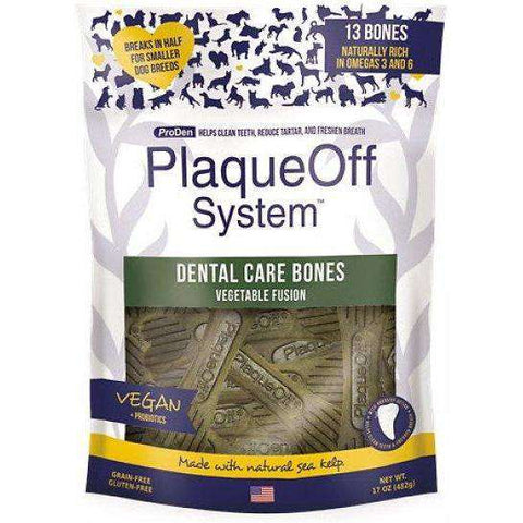 PlaqueOff System Dental Vegetable Bones, Dog Treats, Proden - PetMax Canada