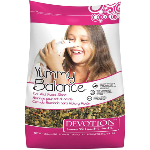 Devotion Yummy Balance Rat & Mouse Blend, Small Animal Food Dry, Armstrong Milling - PetMax