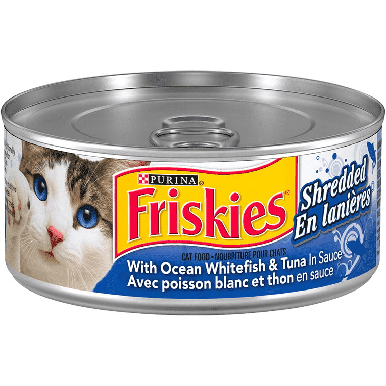 Friskies Canned Shredded Whitefish And Tuna  Canned Cat Food - PetMax