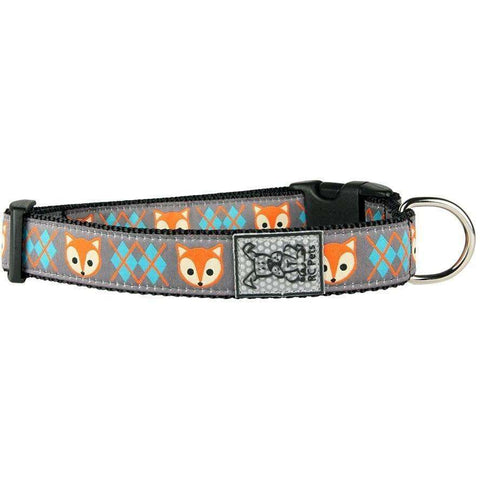 RC Dog Adjustable Collar Pattern Fox, Dog Collars, RC Pet Products - PetMax Canada